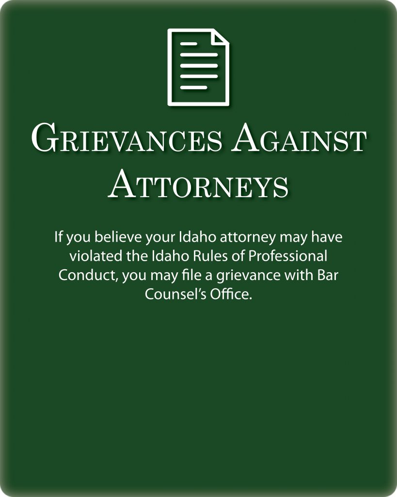 grievances against attorneys